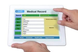 Secure patient information and medical record.