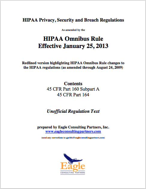 HIPAA Omnibus Rule with Eagle Consulting Guidance